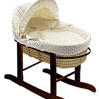 rocking moses basket and stand set